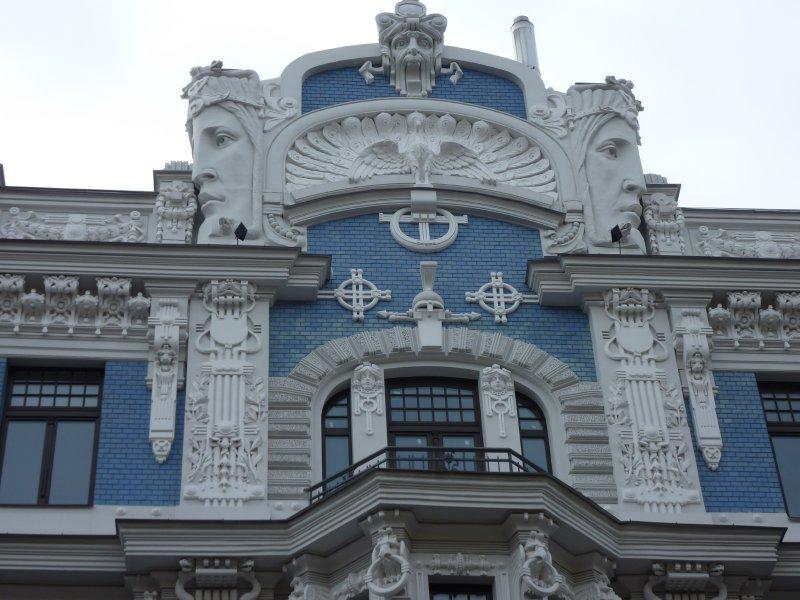 Art nouveau detail, Riga