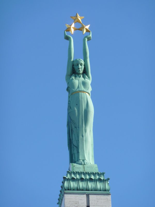 Top of the freedom monument, Riga