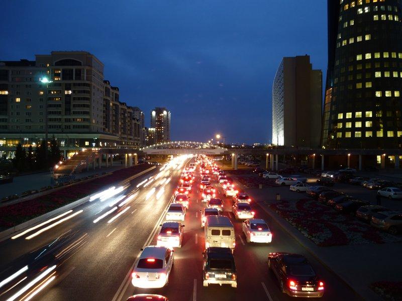 Astana Road By Night