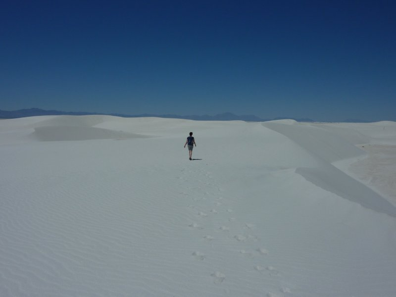 Feeling small in White Sands NM, New Mexico