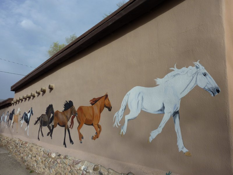 Mural in Taos, New Mexico