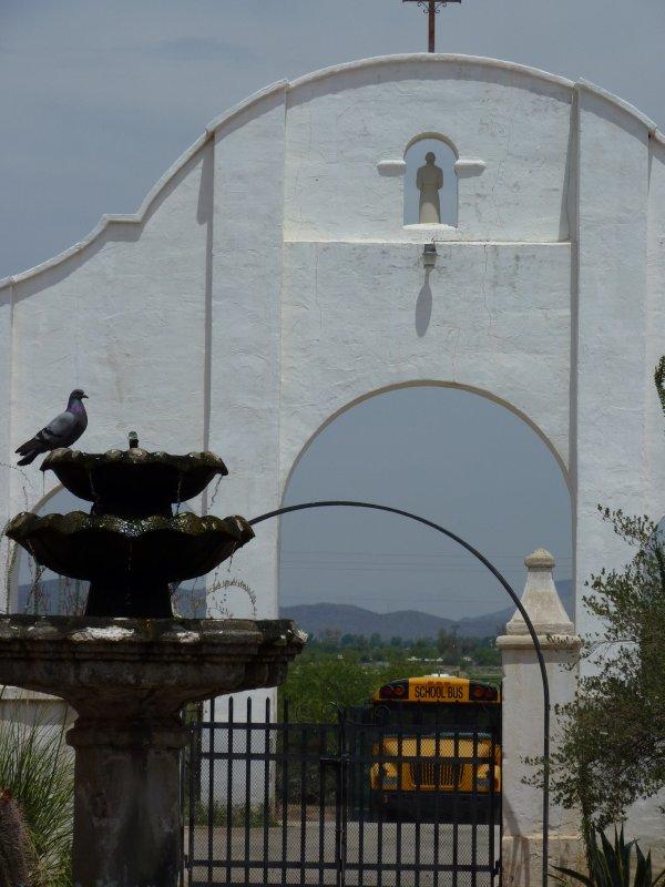 Backyard of Mission San Xavier del Bac