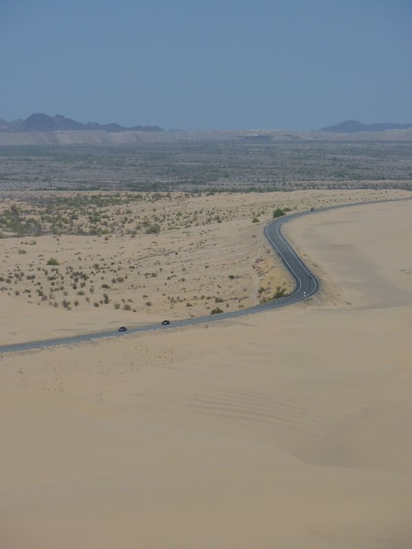 Highway 78 across the Imperial Sand Dunes, Southern California