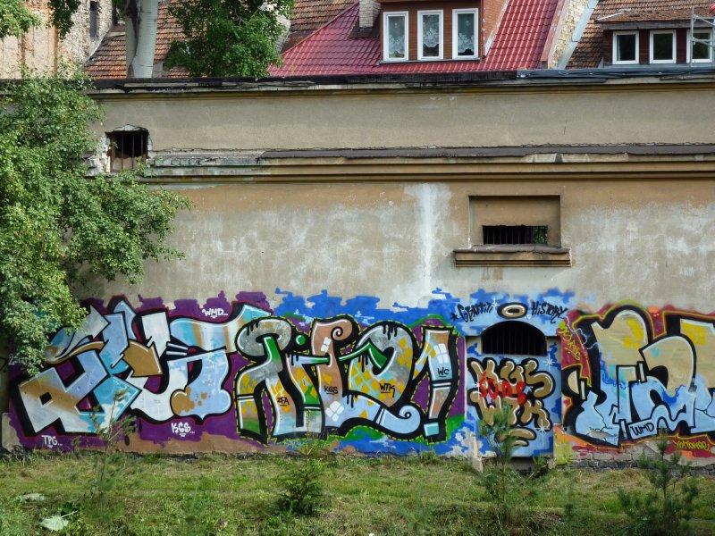 Graffity in the Uzupis District, Vilnius