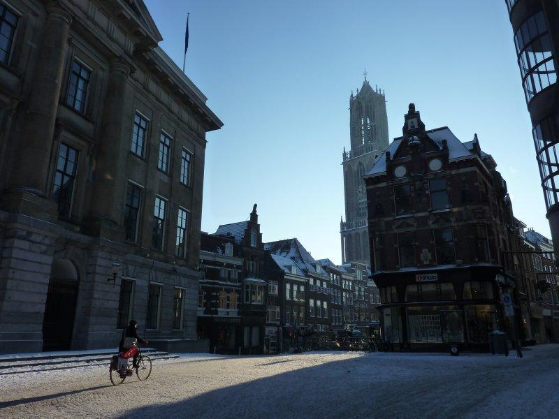 Cold winter morning in Utrecht