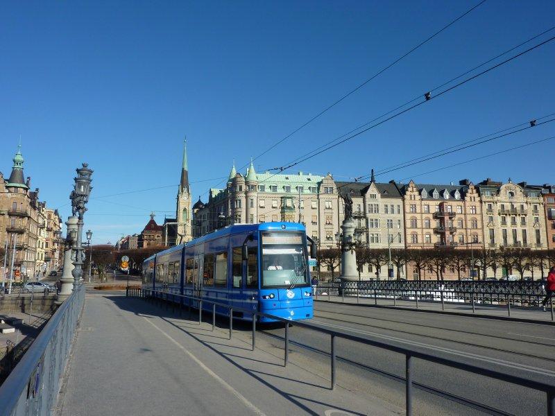 Tram across the bridge to Djurgården, Stockholm
