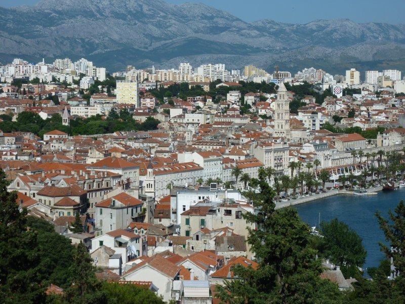 Split as seen from Marjan Hill