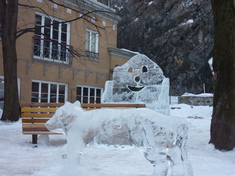 Ice scuplture, Quebec City
