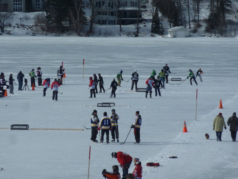 Good old fashioned pond hockey