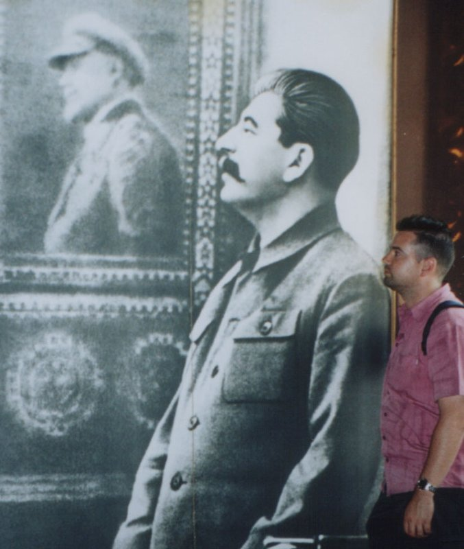 Me and Stalin in the Stalin museum, Gori