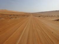 Road across Wahiba Sands, Oman