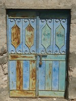 Door in one of the villages in Wadi Tiwi