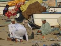 People Gathering on the Beach in Al Ayjah