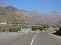 Road across Wadi Bani Kharus