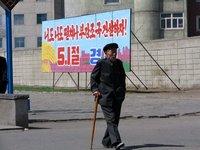 Taking a walk in Pyongyang