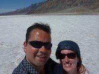 Me and Eva 'enjoying' 44 degrees Celcius