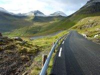 Mountain road from Gjógv to Eidi