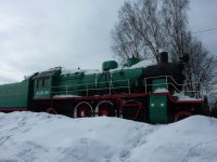 Old steam train, Valga