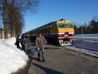 Train entering Sigulda station....my ride to Riga