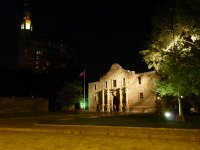 The Alamo by night, San Antonio, Texas