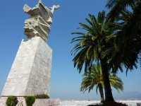 Mother Albania watches over Tirana