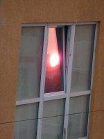 Sunset in Tirana's windows