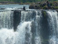 Devil's Pool in Zambia's Victoria Falls, view from Zimbabwe