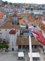 View over Trogir from the belltower of the cathedral