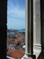 View over Trogir from the cathedral