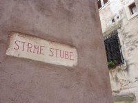 Sibenik street sign