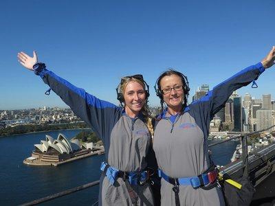 Fay and I on the bridge. Hurrah!