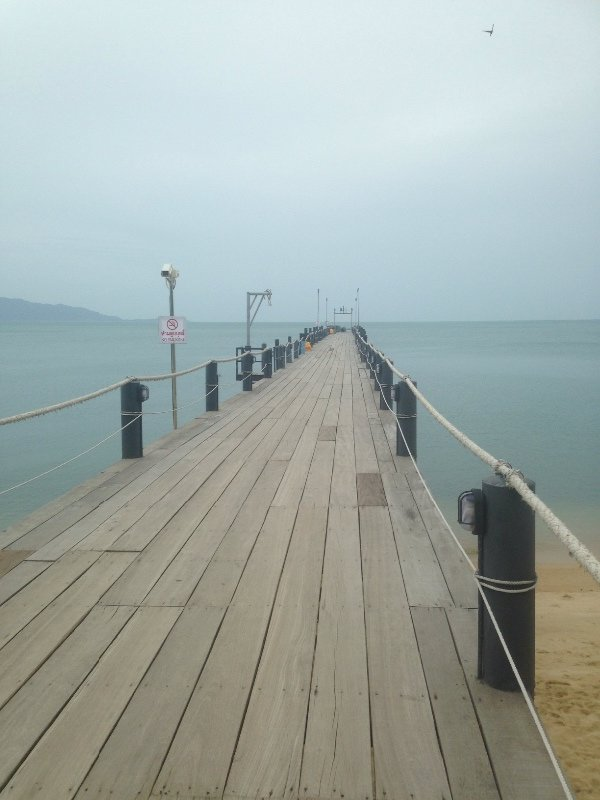 The pier outside our hotel in Koh Samui