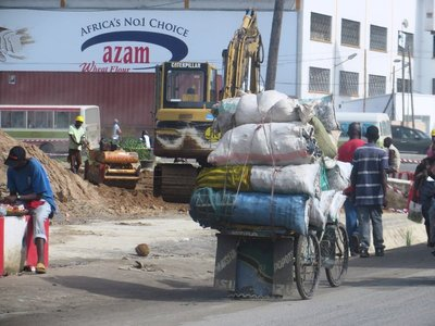 Transportation overload, through Dar es Salaam