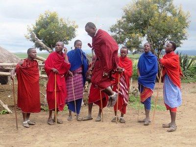 Masai warrior dance, Arusha, Tanzania
