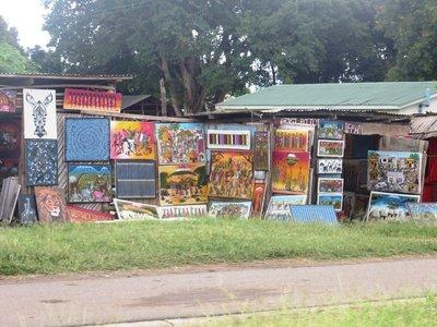 Art work on the side of the road, Mto Wa Mtu village, Tanzania