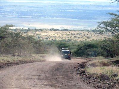 Leaving Mt Ngorongoro and appraoching the Serengeti