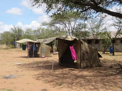 camping in the Serengeti, Tanzania