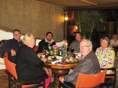 Farewell dinner at the Talisman, Nairobi, Kenya