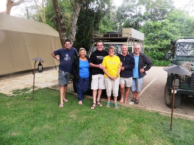 Our group at the Wildebeest, Nairobi, Kenya