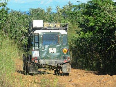 The rough Livingstonia road, Malawi