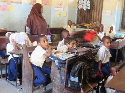 Chilldren in school in Stone Town, Zanzibar