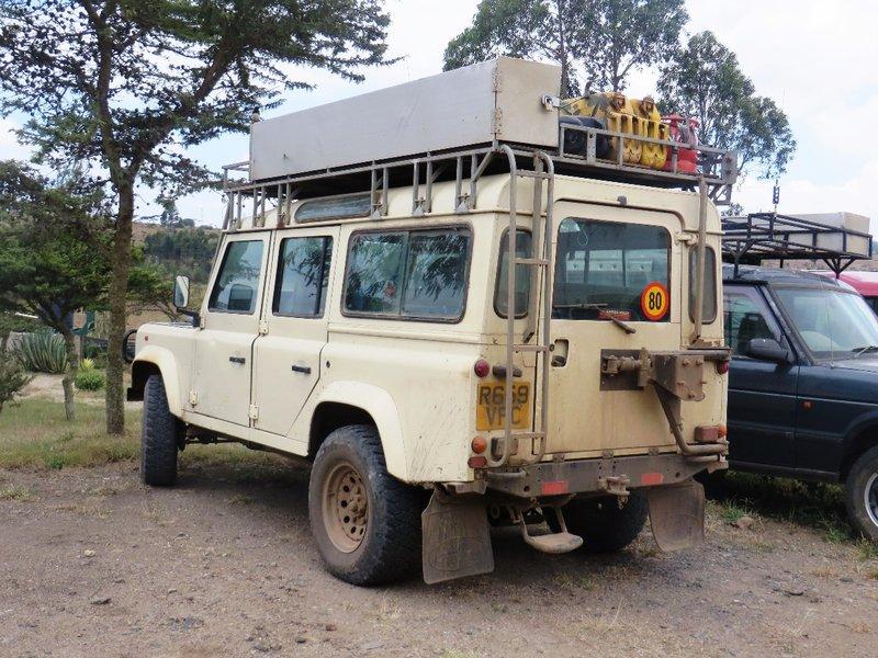 Farewell to our land rover, Nairobi, Kenya