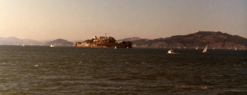 Alcatraz Island, as seen from Fisherman's Wharf