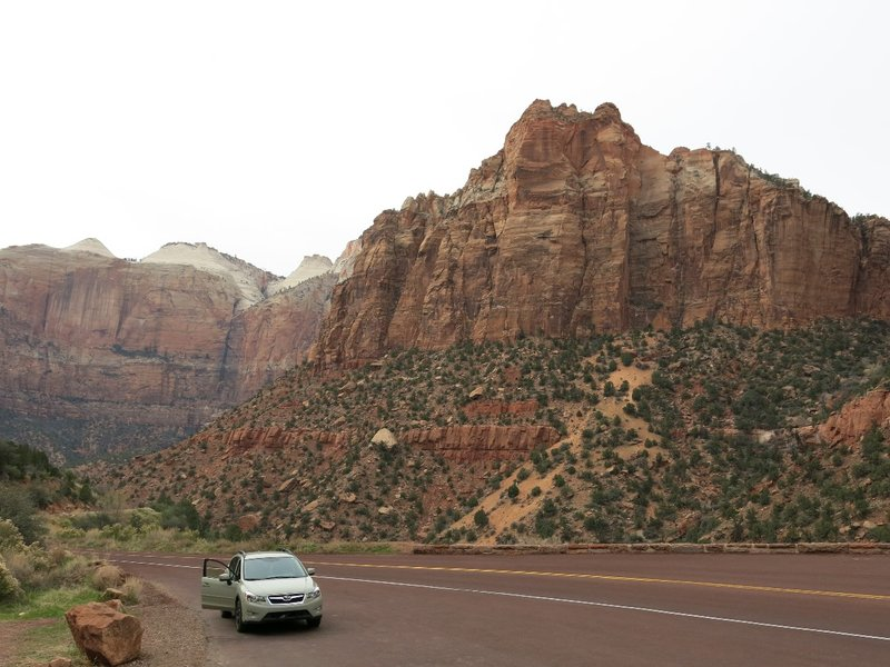 view from the Zion-Mount Carmel Hwy