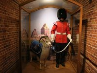 Soldier with the regimental mascot