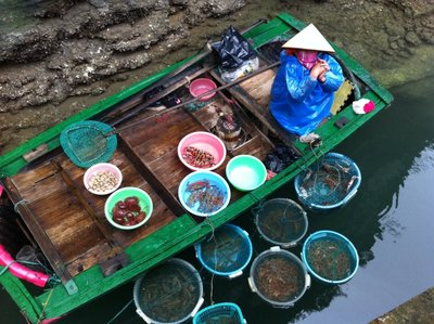 Floating market on Halong Bay