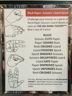 Rules to Rock, Paper, Scissors, Lizard, Spock