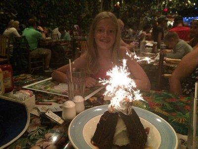 Sparkling Volcano dessert