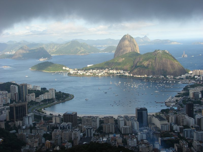 Rio view from Dona Marta Belvedere
