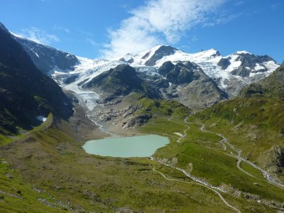 What is left of the Steingletscher in Berner Oberland